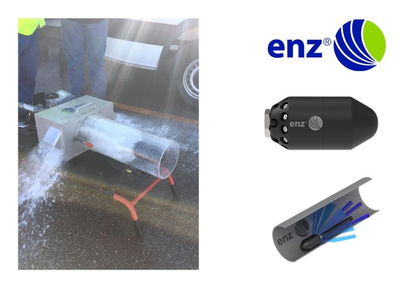 Enz sewer share best practise: 360Bomb  a nozzle to clean 360°\nDo you need to clean small and large pipes and sewers ? Do you need to remove a lot of debris ? Do you want to clean around ?\nHave a look at the enz 360Bomb (https://lnkd.