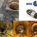 enz sewer share best practise: preventive cleaning with a camera nozzle  e-Bomb\nDo you need to clean with a camera ? Do you want to know, whether the pipe was cleaned ? Do you want to have a simple data management ? Do you want to sell more ?\nIn this example the contractor needed to do maintenance cleaning.