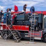 Formation de l\'équipe tksa par Dirk de kroll sur notre 3 essieux recycleur à 24 Micron et auto nettoyant.