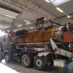 tksa Préparation à la peinture de notre véhicule de démonstration Kroll 4 essieux recycleur 17 microns avec floculation.