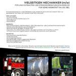 WANTED: Verantwortlicher für unsere neue Werkstatt in Lyss (BE) - Als vielseitiger Mechaniker (m/w) für LKW-Aufbauten und Strassenreinigungsfahrzeuge erwartet Sie eine interessante und vielseitige Herausforderung.